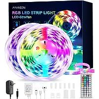 AIMASON LED Strip 10M, RGB Strip met 44 Knoppen Afstandsbediening, 20 Kleuren die Veranderen, Lumiere en Dimbaar Licht…