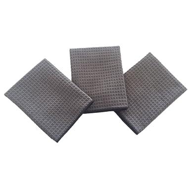 KLEIESH Microfiber Waffle Weave Kitchen Drying Towels Dish Cloths (16 x24 , Light Grey)
