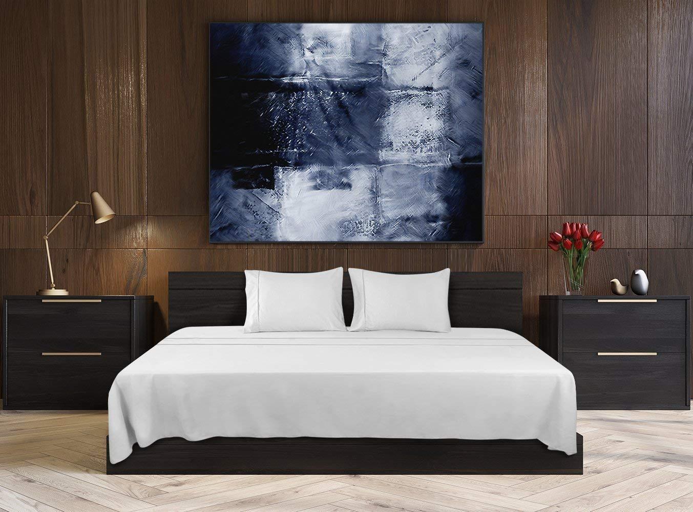 4081886879 Utopia Bedding - Set Lenzuola Letto - Spazzolata Microfibra - (Bianca, Una  Piazza e Mezza): Amazon.it: Casa e cucina