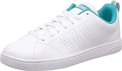 Característica Instituto Pebish  adidas Advantage Clean Vs W, Zapatillas para Mujer, Multicolor (FTWR  White/Shock Green), 42 EU: Amazon.es: Zapatos y complementos