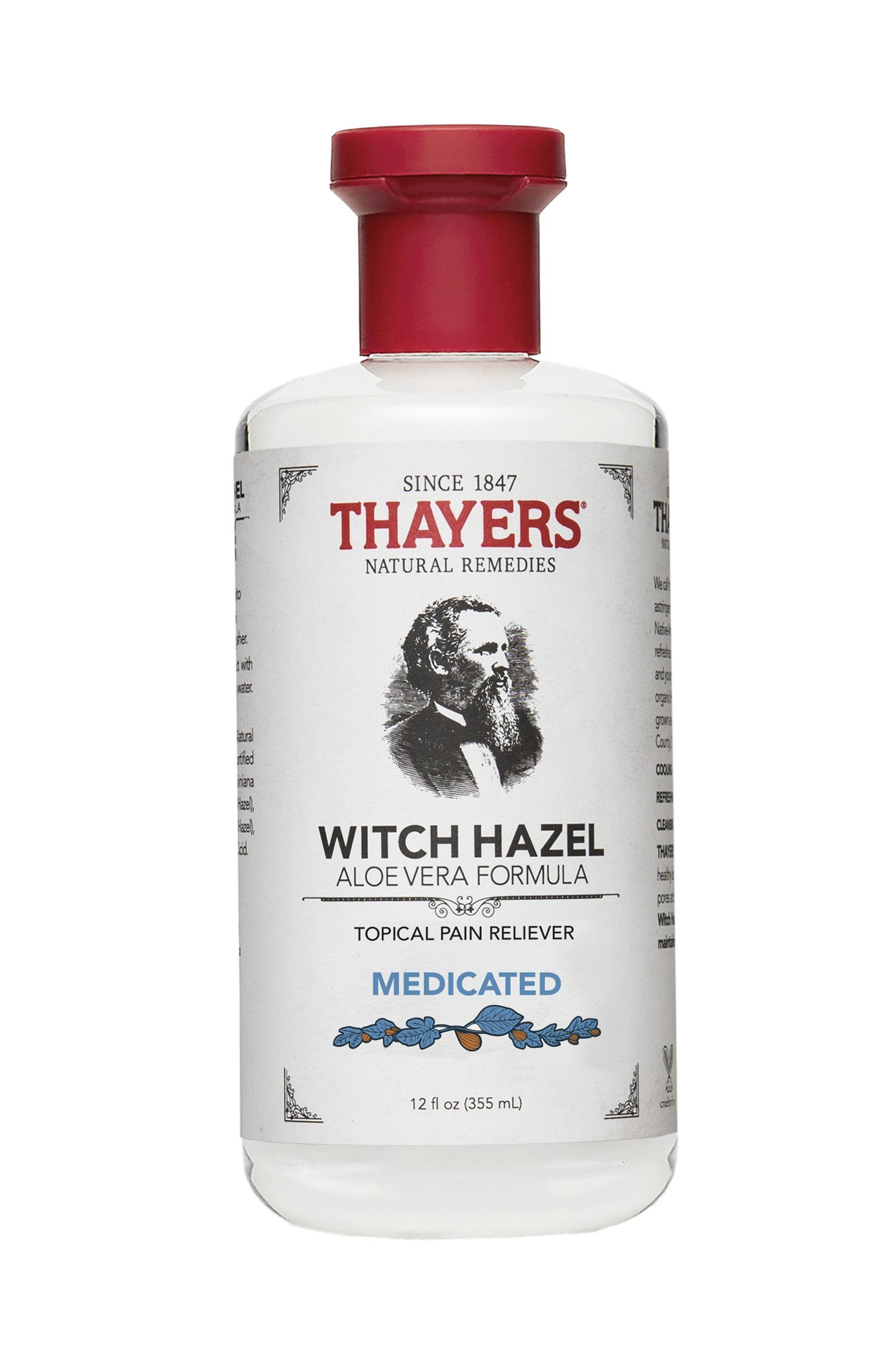 Thayers Witch Hazel with Aloe Vera, Original Astringent 12 oz (Pack of 2) trilogy ultra hydrating face cream for unisex, 2.5 ounce
