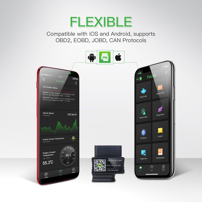 JDag FasLink M2 OBD2 Bluetooth Codeleser Auto Diagnose Scanner OBDII ...
