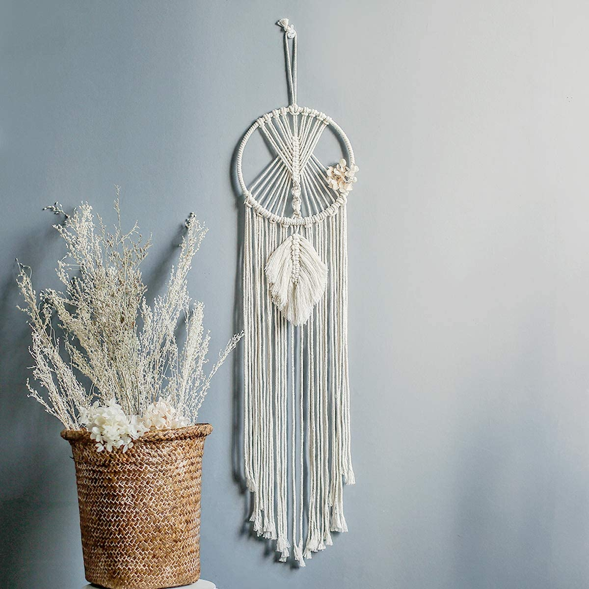AWAYTR Macrame Dream Catchers Wall Hanging - Room Bedroom Wall Decor Boho Nursery Home Decorations Festival Gift,32
