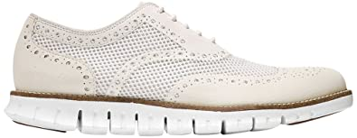 c8f558a6a69306 Image Unavailable. Image not available for. Color  Cole Haan Men s ZEROGRAND  No Stitch Oxford 9 Ivory-optic White-mesh