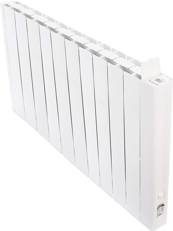 HAVERLAND RCO-10   Emisor Térmico Fluido Bajo Consumo   2000 W   10 Elementos   Programación con Conexión Inalámbrica Bluetooth   Diseño Ultra-Compacto   +/- 25-33 m²   Blanco