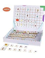 Anpro Giocattoli Educativi Lettere e Numeri Magnetici per Bambini,Libro Magnetico,Lettere Magnetiche per educare i Bambini