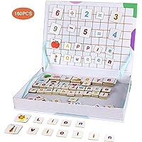 Anpro 160PCS Letras y Números Magneticas para Niños