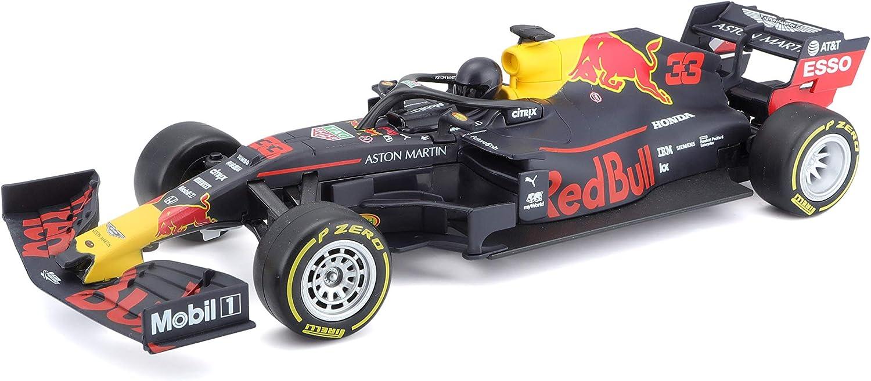 Maisto Tech R/C F1 Red Bull RB15 (2019): Coche teledirigido MAX Verstappen a Escala 1:24, Coche de fórmula 1, 2,4 GHz, Control de empuñadura de Pistola, 22 cm, Color Negro (582351)