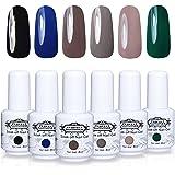 Soak Off Gel Nail Polish - Perfect Summer 0.27 Oz 6PCS UV LED Gel Polish Nail Varnish Gift Kits¡