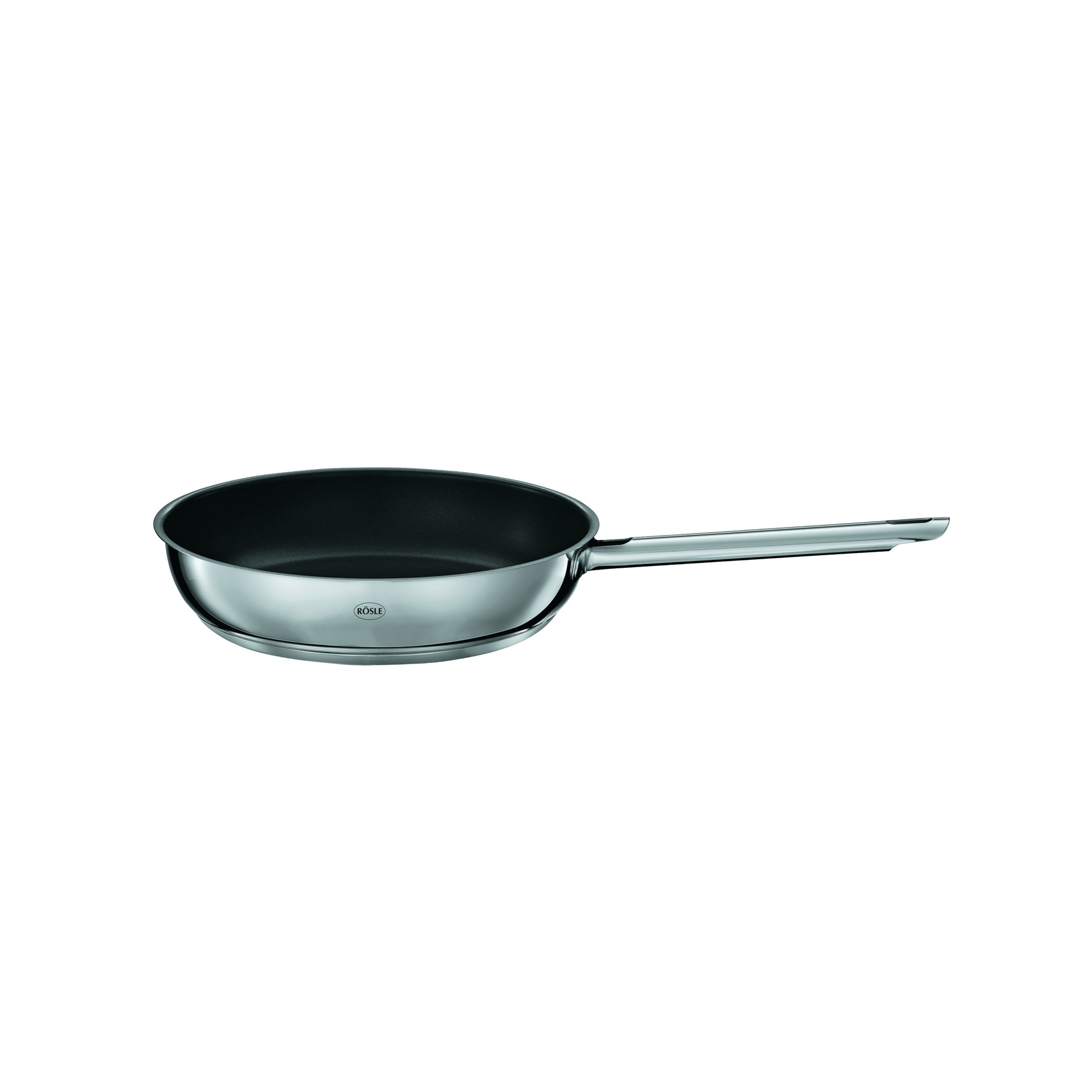Rösle Elegance Frying Pan with Non-Stick Coating, Serving Pan, Stainless Steel, non-stick, 28 cm, 13212