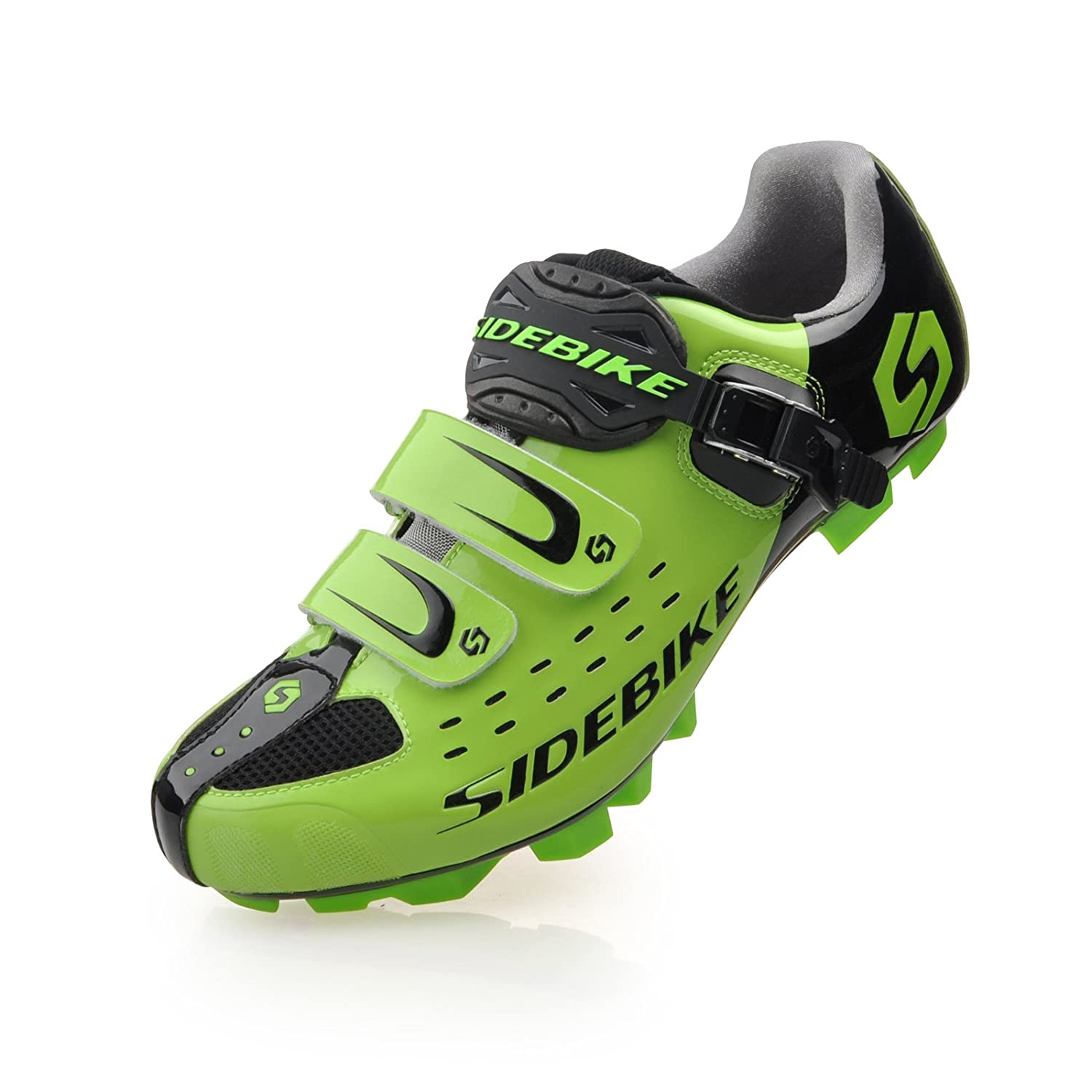 SD01-MTB-Black green Smartodoors Sidebike SD002 Men's All-Around Road Cycling shoes with Carbon Soles
