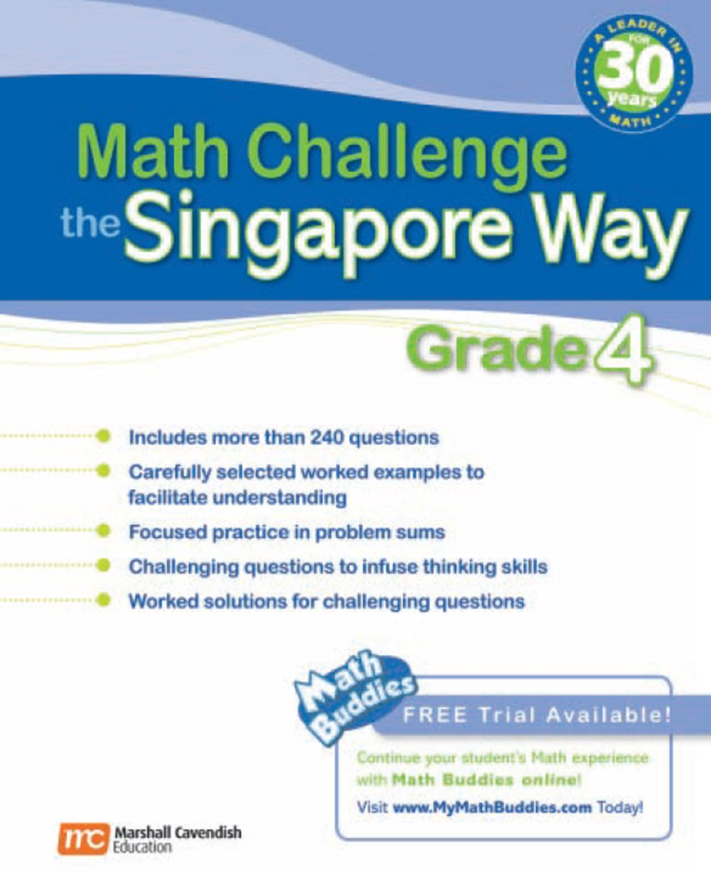Math Challenge The Singapore Way Grade 4 Math The Singapore Way