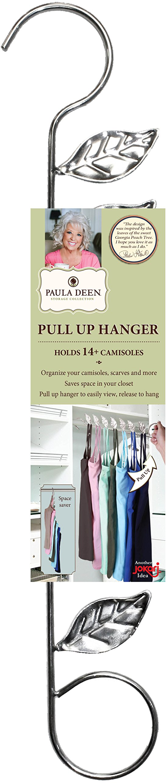 Paula Deen Multi Hook Hanger, Best For Space Saving Multi Use Clothes Organizer, See Clothing at a Glance With Pull Up Design, Save Room in Your Closet by Jokari