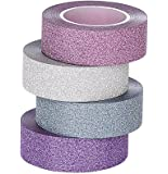 ST Glitter Washi Tape collection ,15mm X 9.1m each,Pack of 4