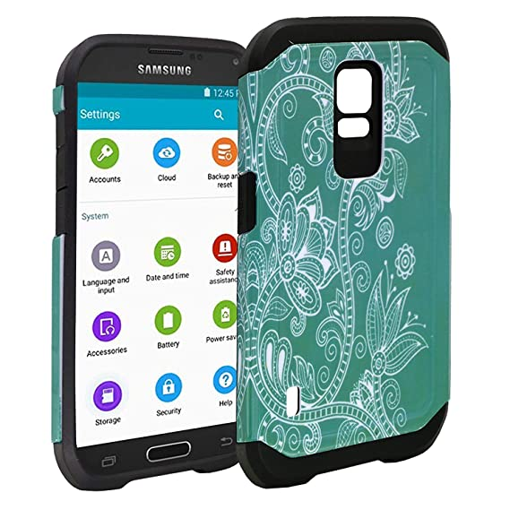 best authentic f11c5 f940c Galaxy S5 Active Case, Customerfirst S5 Active Hybrid Dual Layer Armor Hard  Silicone Skin Protector Cover Case for Samsung Galaxy S5 Active G870 Phone  ...