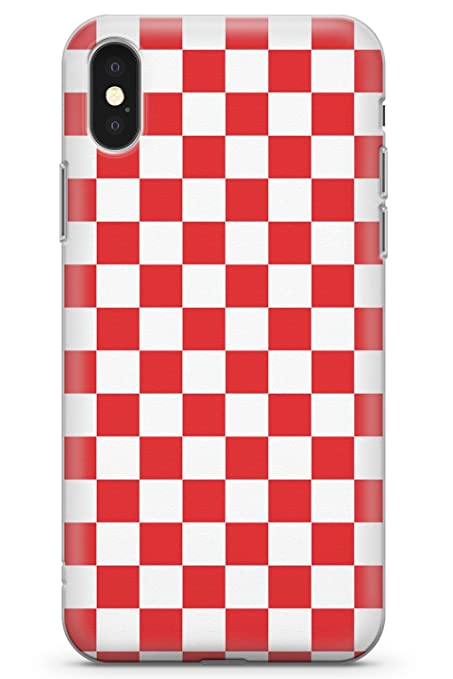 hot sale online 5f315 8dd31 Case Warehouse iPhone 10 Case, iPhone X Case, Red Checkered Phone Case  Clear Ultra Thin Lightweight Gel Silicon TPU Protective Cover | Checked ...