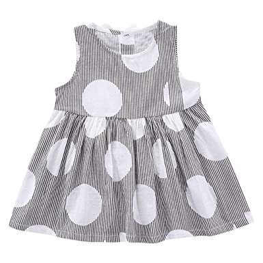 45d977bd4876 2019 New! Baby Girls Dresses,Summer Sleeveless Striped Printed Cute Bow  Princess Dress Clothes