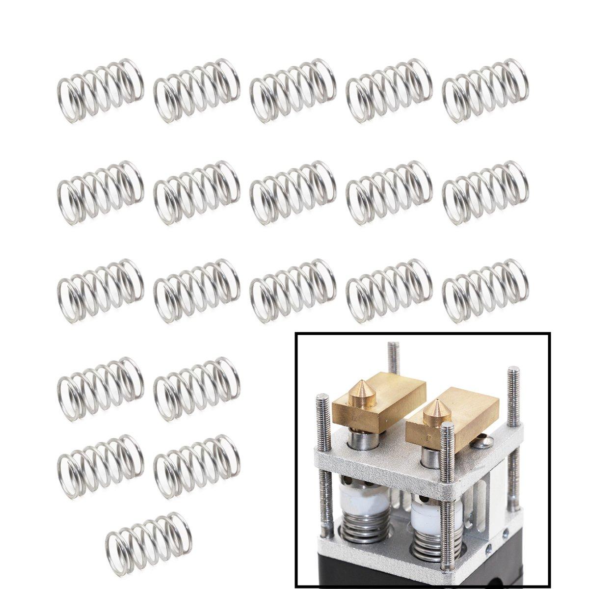 WINSINN 3D Printer Extruder Spring for Ultimaker 2 UM2 Hotend Nozzle 1x10.7x17.5x7 mm Accessories Parts(Pack of 20Pcs) WINSINN Technology Ltd