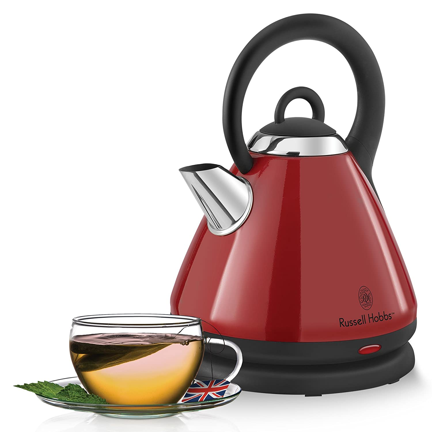 Russell Hobbs 1.8-Liter Dome Style Auto-Off 360-Degree Cordless Electric Kettle, Red, KE9001RC