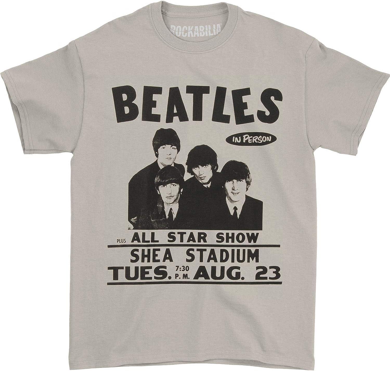 Beatles Men's Shea Stadium T-Shirt Cream