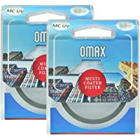 Omax MC-UV Filter for Nikon D3500, D5300, D5600 (Dzoom Kit) Combo 18-55 & 70-300 Af-p Lens (55mm & 58mm) Set of 2