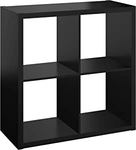 ClosetMaid 4556 Decorative Open Back 4-Cube Storage Organizer, Black