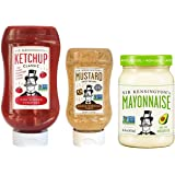 Sir Kensington's Hero Trio Sampler Pack - Classic Ketchup, Avocado Oil Mayo, Spicy Brown Mustard, Pack of 3