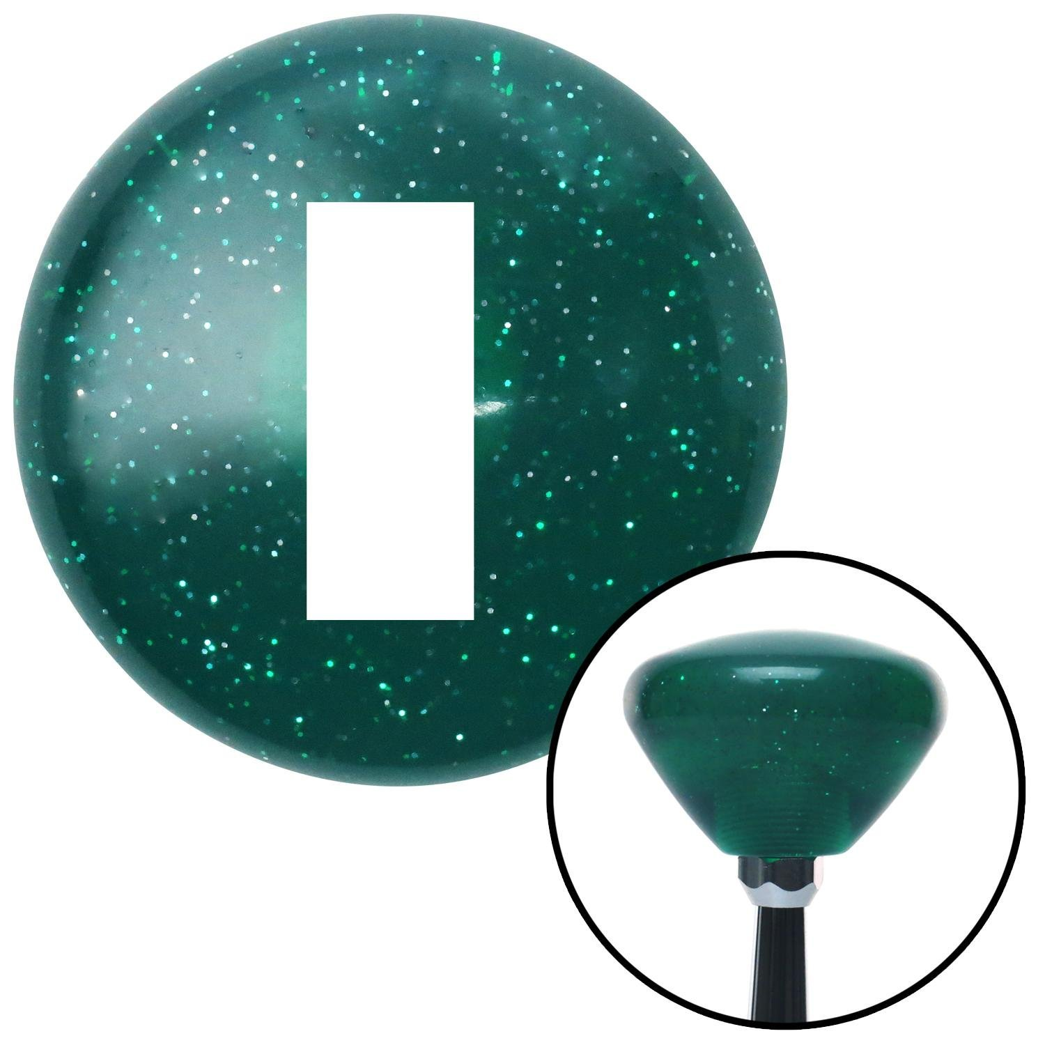 American Shifter 267350 Green Flame Metal Flake Shift Knob with M16 x 1.5 Insert White JDM Hand Bomb