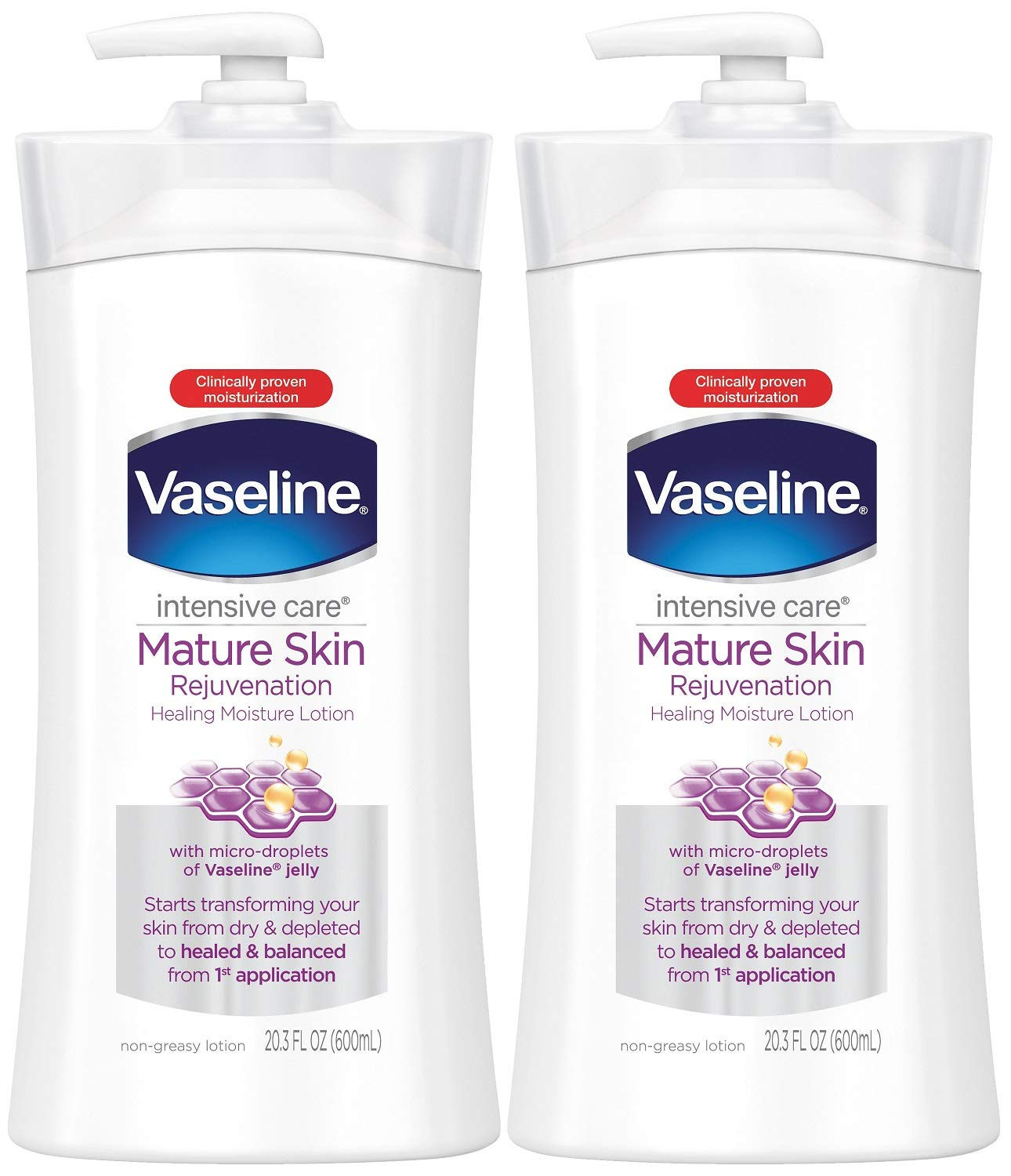 Vaseline Intensive Care Mature Skin Rejuvenation Body Lotion, 20.3 Ounce (Pack of 2) by Vaseline