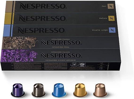 50 NESPRESSO CAPSULAS DE CAFÉ (10 x VOLLUTO, 10 x ROMA, 10 x COSI ...