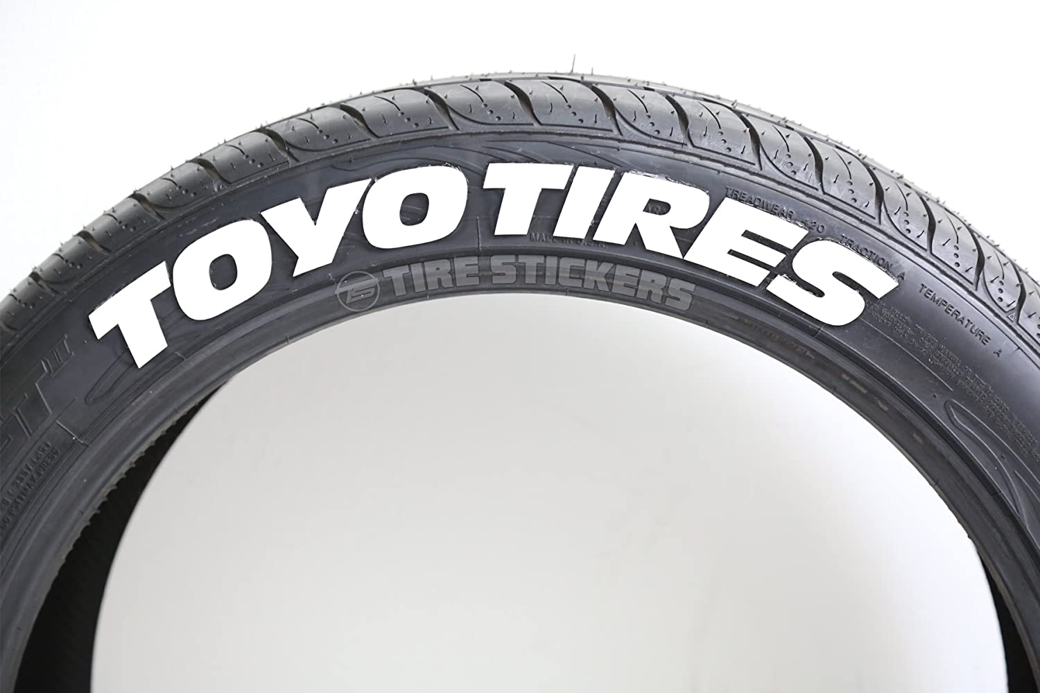 amazoncom toyo tires proxes permanent tire lettering kit white 4 of each word automotive