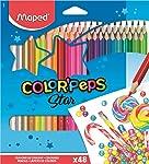 Lápis de Cor, Maped, Color Peps, 832048ZV, 48 Cores