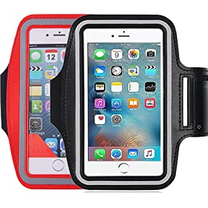 2Pack Running & Exercise Armband for iPhone 8,8plus 7 plus 6plus,6S,6,5S 5C,Samsung Galaxy s8,s8plus,s7,s6,Note 4 5, Nexus 5, Sony Xperia Z4 Z5, Other all Cell phone less than 5.6 Inches phone device