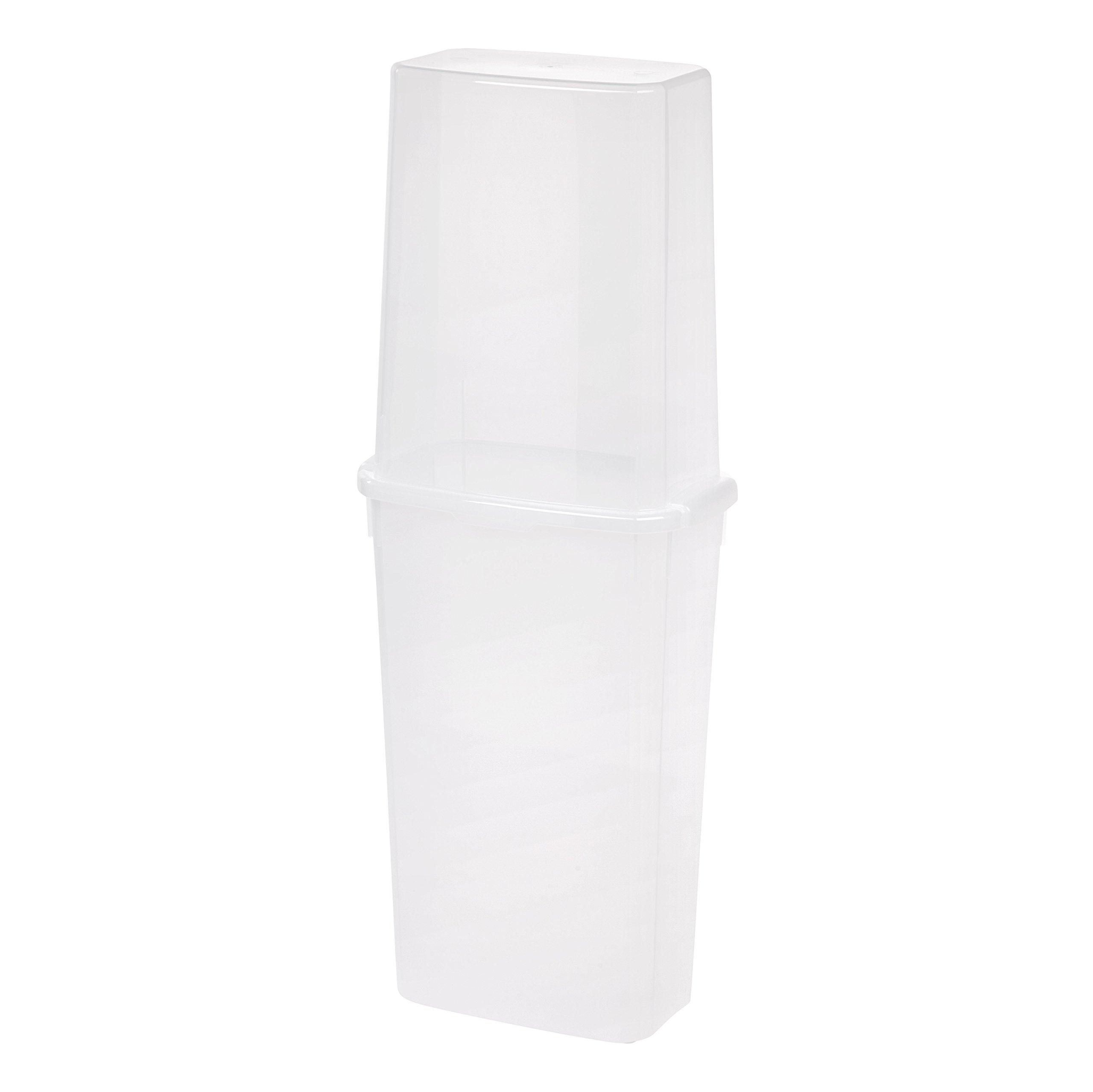 IRIS 40'' Vertical Storage Box, Clear