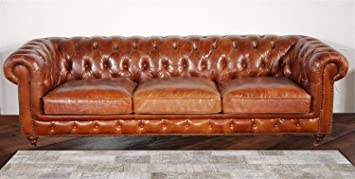 pasargad carpets chester bay genuine leather tufted sofa 3u0027 2u0026quot
