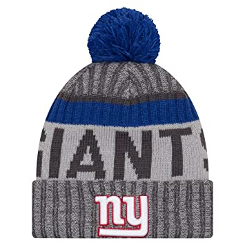 New Era NFL SIDELINE 2017 Bobble Beanie - New York Giants  Amazon.co.uk   Sports   Outdoors 4f9b2fa3474d