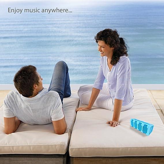 NEW Pyle PWPBT15BL Jam Tunes Box Rugged Bluetooth Speaker W//Calls Hands-Free//Aux