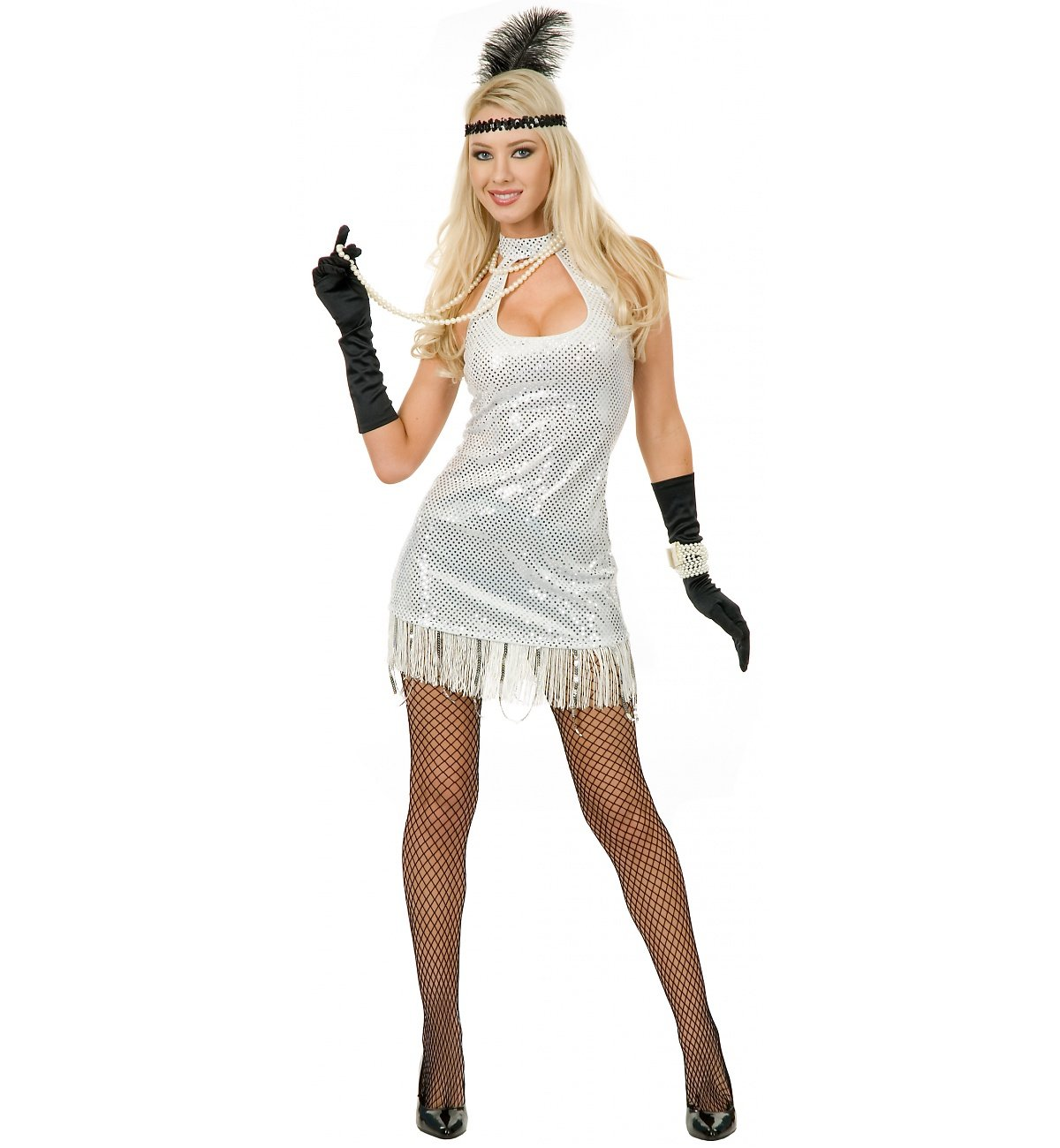 Charades 20039;s Flapper Costume  Large  Dress Size 1113