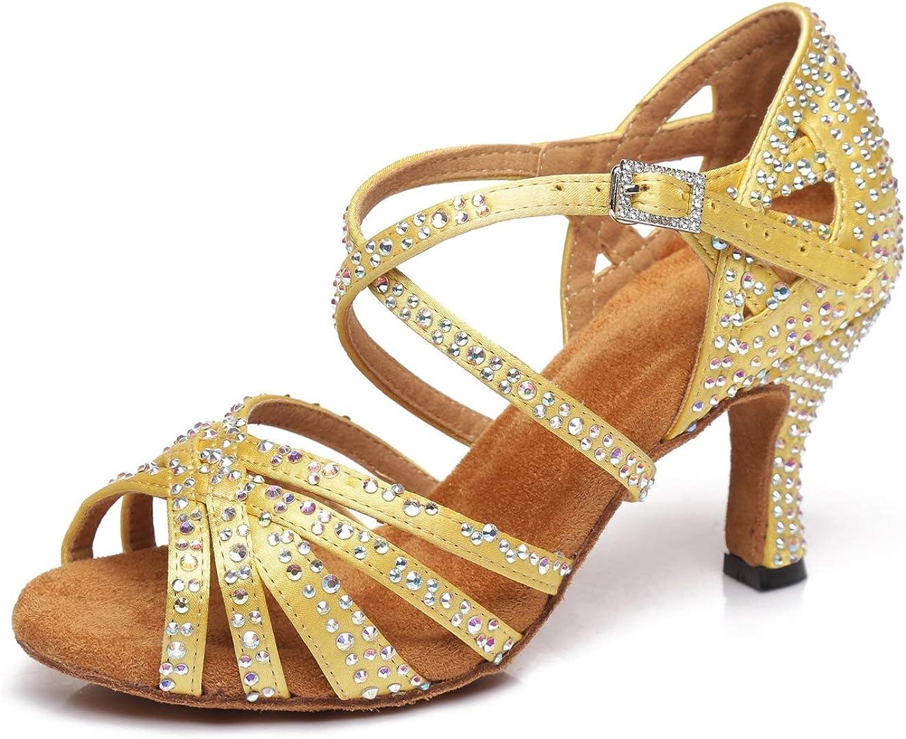 Minitoo L423 Chaussures de danse /à bout ouvert pour femme