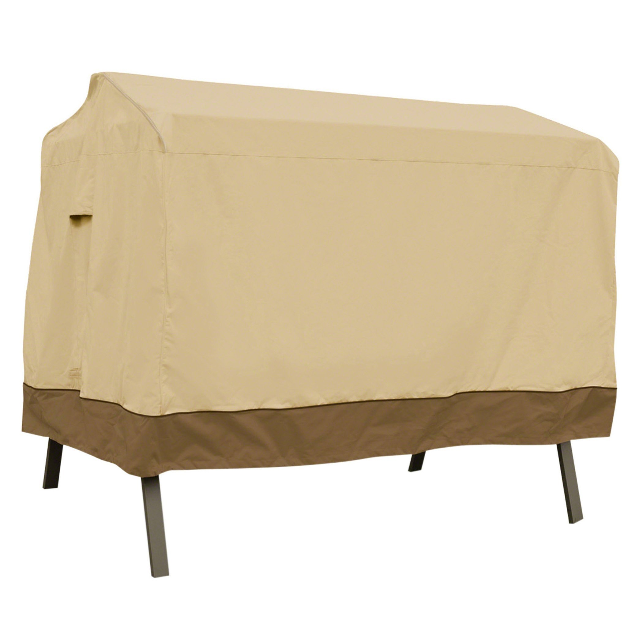 Classic Accessories Veranda 3-Seater Patio Canopy Swing Cover - Durable and Water Resistant Patio Set Cover (55-622-011501-00)