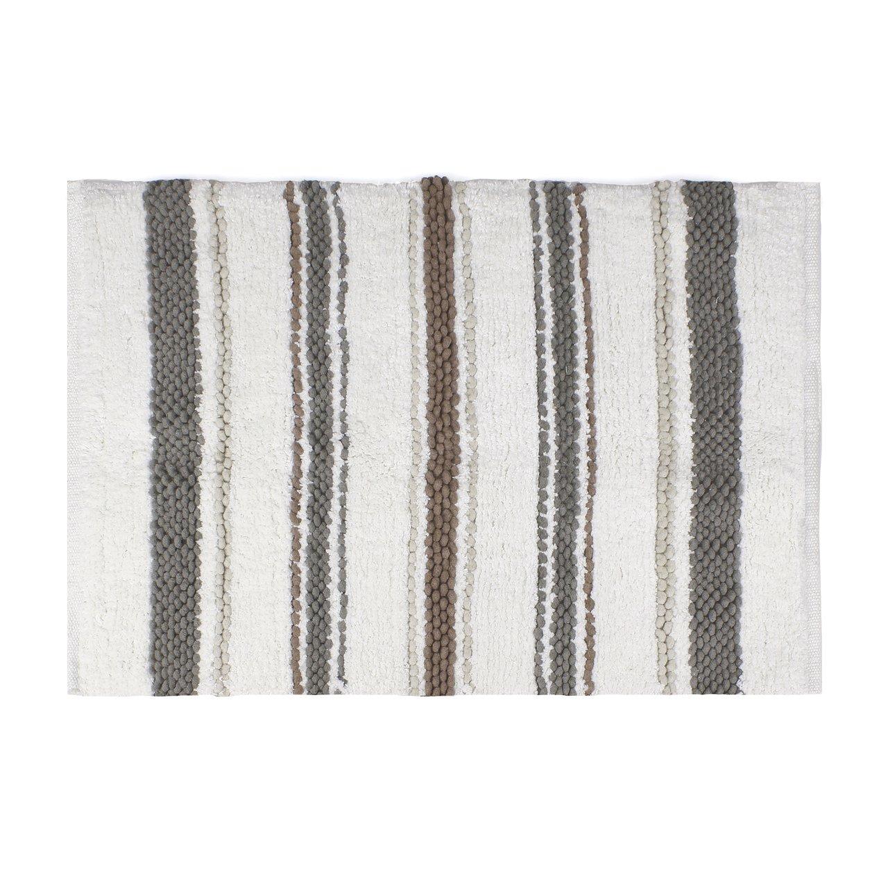 Saturday Knight Colorware Stripe Bath Rug, Neutral Saturday Knight Ltd R0259200850007