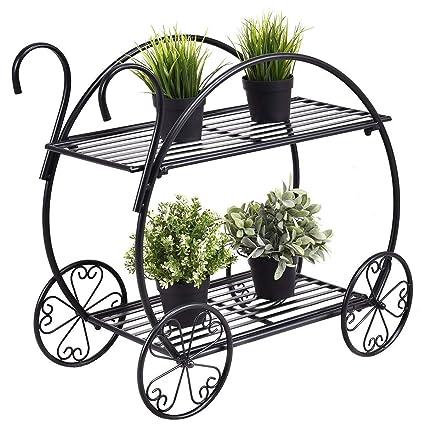 Amazon.com: Giantex carrito de jardín soporte macetas ...