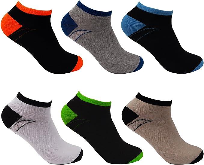 L&K Pack de 6/12 Calcetines de deporte Sneaker Cortos para hombre multicolor 92231: Amazon.es: Ropa y accesorios