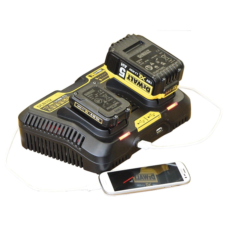 DeWalt System-Schnellladegerät für Akku / USB, DCB102-QW