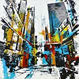 Asmork Abstract Oil Painting on Canvas Landscaping Best Buy Gift- Art Galleries Wall Decor Landscape Ready to Hang Modern Artwork for Bedroom Hand Painted Paintings, 23.6*23.6''