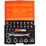 BAHCO(バーコ) 26PC Bit Set with Bits Sockets Bit Ratchet and Adaptors ミニチュアビットラチェットセット 2058/S26