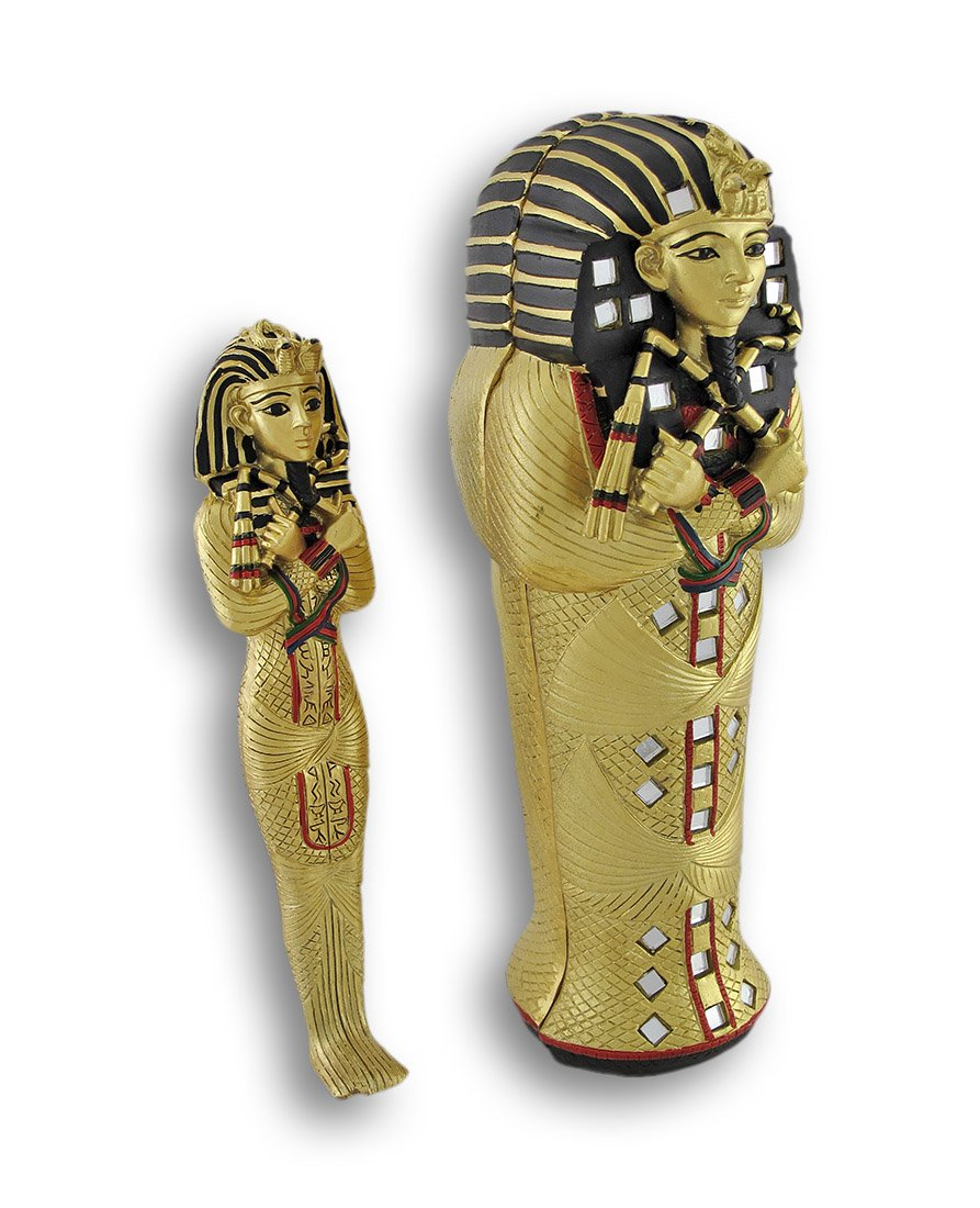 Uncategorized Pictures Of Sarcophagus amazon com egyptian king tut sarcophagus box w mummy inside coffin home kitchen