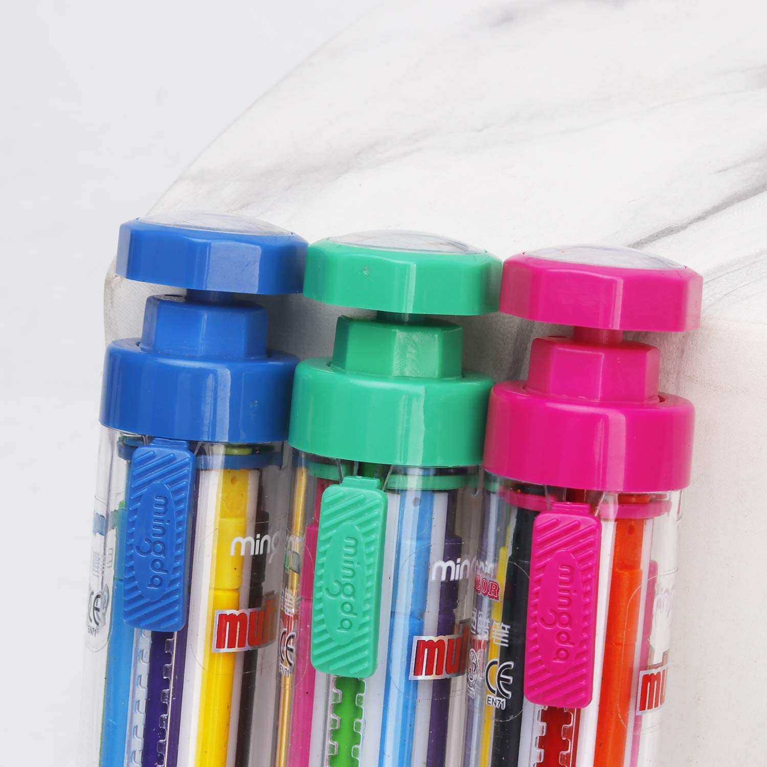 Blue ZUYGG Crayons 8 Color in One Adjustable and Rotating Design