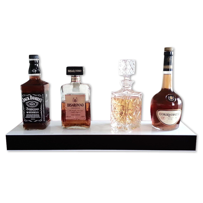 HOME Bar, Regal, beleuchtet, LED Liqueur Flasche-Regal 1 Fächer, mit ...