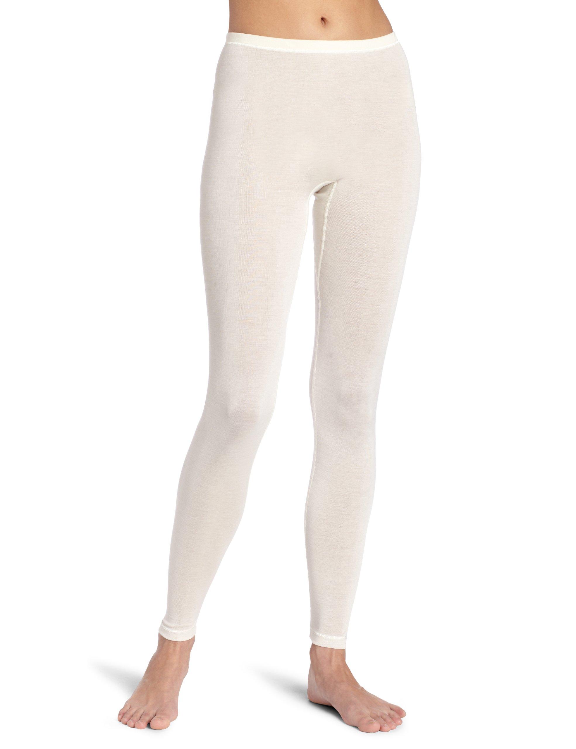 Hanro Women's Pure Silk Leggings, Pale Cream, X-Small